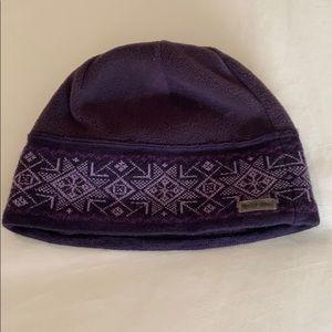 Columbia purple fleece beanie hat